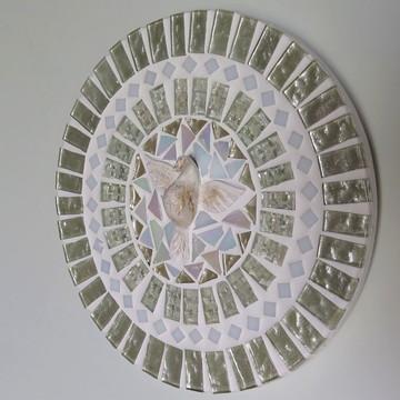 Mandala Divino Espírito Santo Branca 20 cm