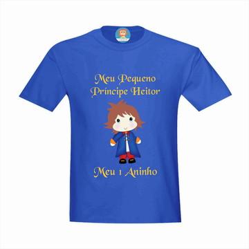 Camiseta de Aniversário Pequeno Príncipe