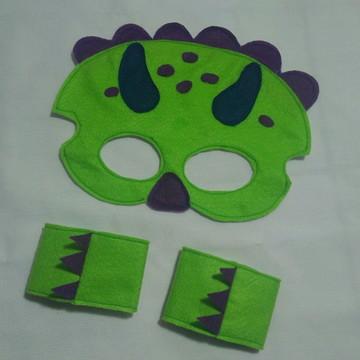 Lembrancinha dinossauro máscara e bracelete
