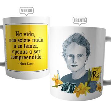 Caneca Cientista Marie Curie - Coleção Ciências