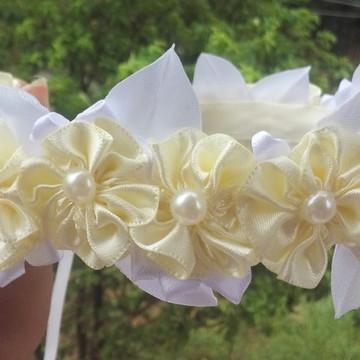 Guirlanda de flores para noiva, tiara de flores de noiva