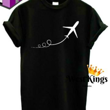 Camiseta Blogueiros T-shirt Youtuber Baby look Avião