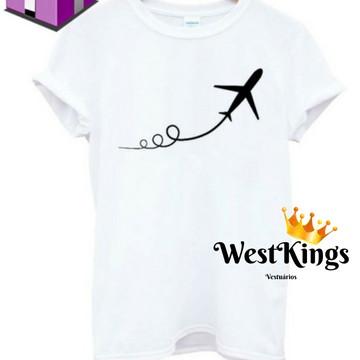 Camiseta Blogueira T-shirt Youtuber Baby look Avião