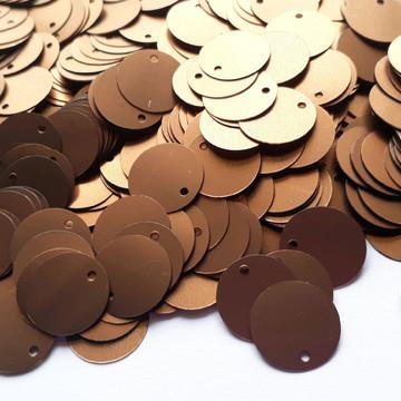 Paetê bronze fosco 16 mm