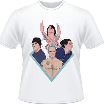 Camisa Red Hot Chili Peppers Membros Masculina