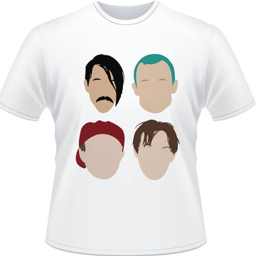 Camisa Red Hot Chili Peppers Minimalista Masculina