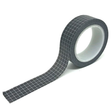 Washi Tape - Quadriculado Preto