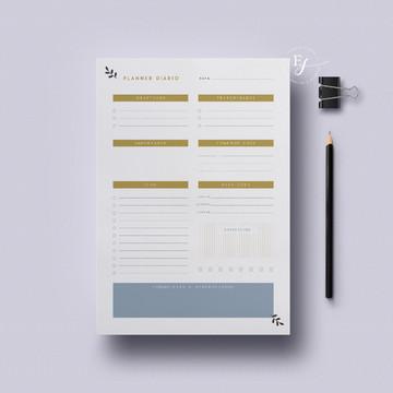 Arquivo Digital Planner Diário -To do List A4 para Impressão