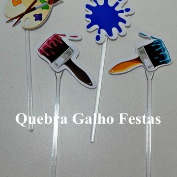 Topper doces Aquarela - Pct com 10