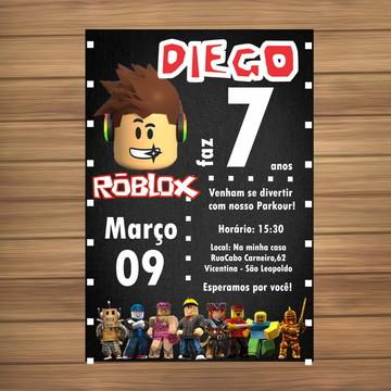 Convite Digital tema Roblox