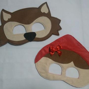 Máscara chapéuzinho vermelho