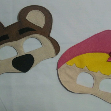 Máscara masha e o urso