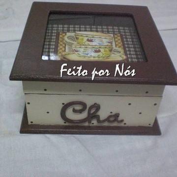 Caixa de Chá em 3D