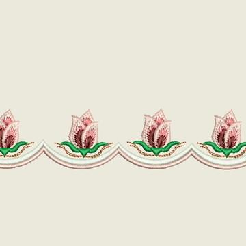 Matriz- Barrinha/festonê -Flores