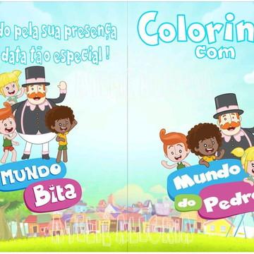 Livro de colorir Mundo Bita