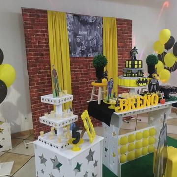 kit decoração, doces e bolo - ABC