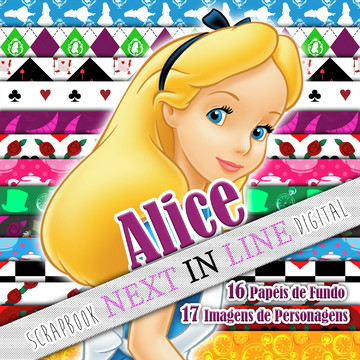 Kit Scrapbook Digital Alice