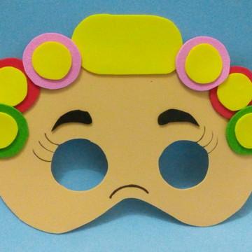 mascara dona florinda eva cm elastico e embalagem