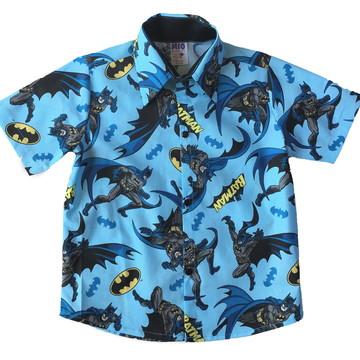Camisa Social Infantil Batman