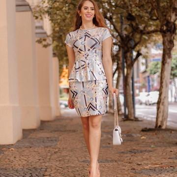 Vestido Peplun Moda Evangelica