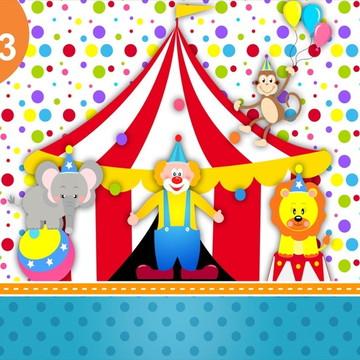 Painel Lona Festa Circo Bolinhas Lona Palhaçada Alegre