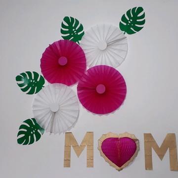 Kit painel dia das mães decoração barata
