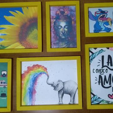 Kit Quadros moldura papel cartão