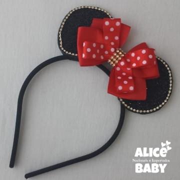 Tiara Minnie Vermelha Mod.2