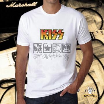 b54f96d4b Camiseta Feminina Mickey Kiss Banda de Rock