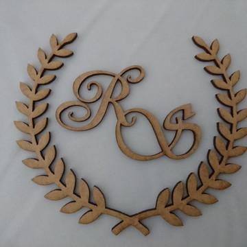 Brasão para Caixinha Lembrança de Casamento 15x15cm