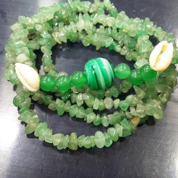 Guia Colar De Pedra Quartzo Verde Orixá Oxóssi Umbanda