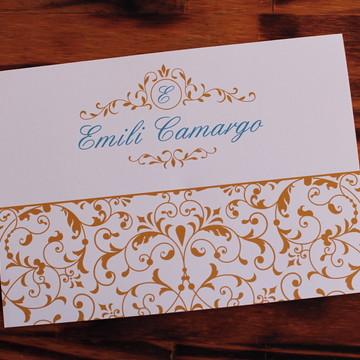 Convite 15 anos dourado tiffany Convite Casamento turquesa