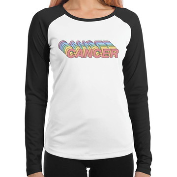 Baby Look Raglan Cancer Signos Tumblr Manga Longa