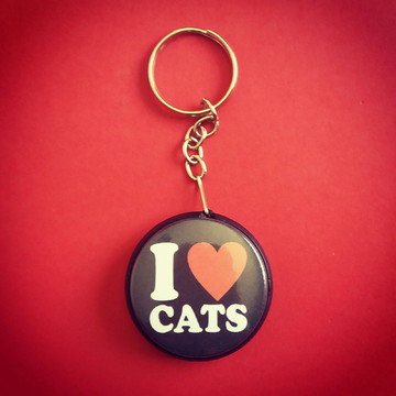 Chaveiro: Amo Gatos