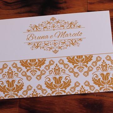 Convite Casamento dourado Convite 15 anos barato