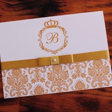 BARATO Convite 15 anos Dourado Convite Casamento