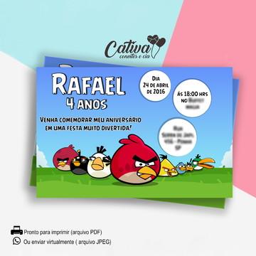 Convite Digital Angry Birds