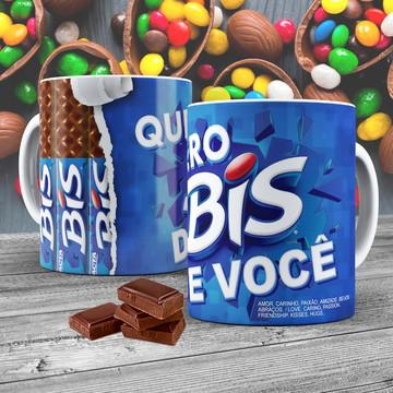 Caneca Porcelana Chocolate Bis