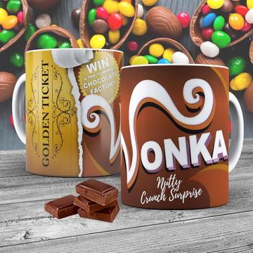 Caneca Porcelana Chocolate Wonka