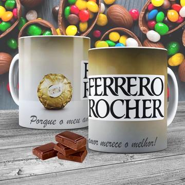 Caneca Porcelana Chocolate Ferrero Rocher