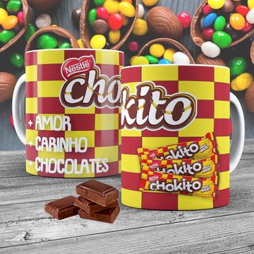Caneca Porcelana Chocolate Chokito