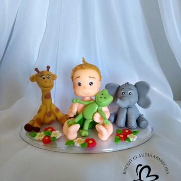 topo bolo personalizado: Safari