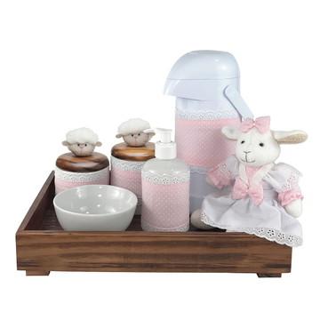 Kit Higiene Completo Porcelanas Ovelha Ovelhinha Clássico
