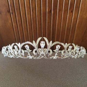 Coroa de Noiva com Zircônias - Elizabeth