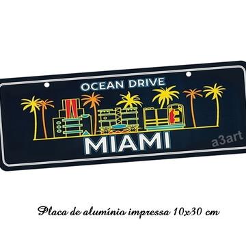 Placa De Carro Decorativa em alumínio Orlando