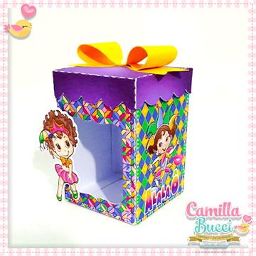 Caixa com Visor 3D Carnaval