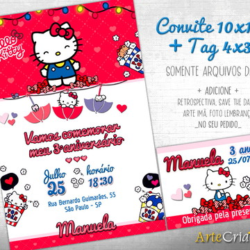 CONVITE DIGITAL C/TAG Hello Kitty 4