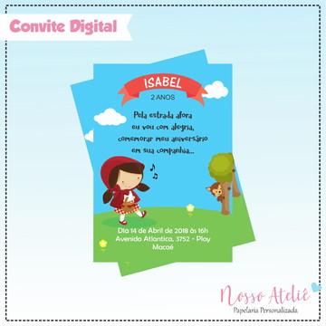 Convite Digital - Chapéuzinho Vermelho
