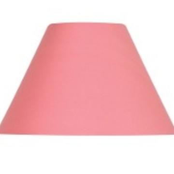 cupula pantalha rosa tecido de algodão 10x16x25