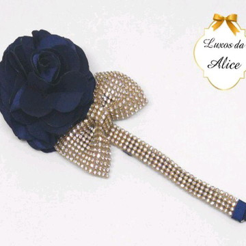 Headband luxo com flor camélia
